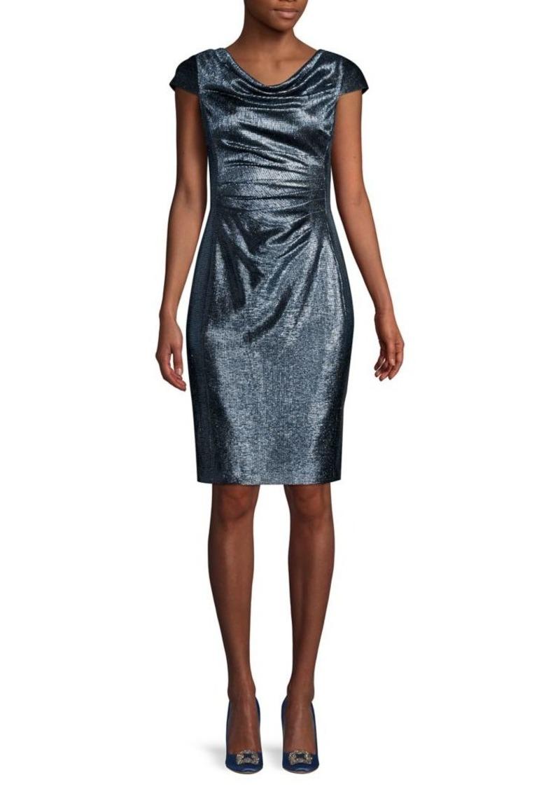 Tahari Arthur S. Levine Cap-Sleeve Sheath Dress