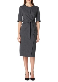 Tahari Arthur S. Levine Chevron Midi Sheath Dress