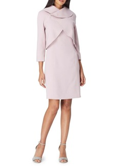 Tahari Arthur S. Levine Classic Two-Piece Wrap Jacket & Knee-Length Dress Set