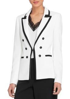 Tahari Arthur S. Levine Contrast Military-Button Jacket