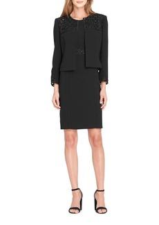 Tahari Arthur S. Levine Crepe Lace Jacket and Dress Suit