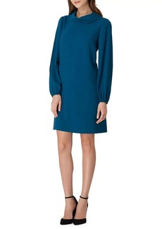 Tahari Arthur S. Levine Crepe Roll-Neck Shift Dress