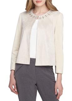 TAHARI ARTHUR S. LEVINE Embellished Roundneck Jacket