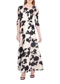 Tahari Arthur S. Levine Embroidered Ballet A-Line Dress
