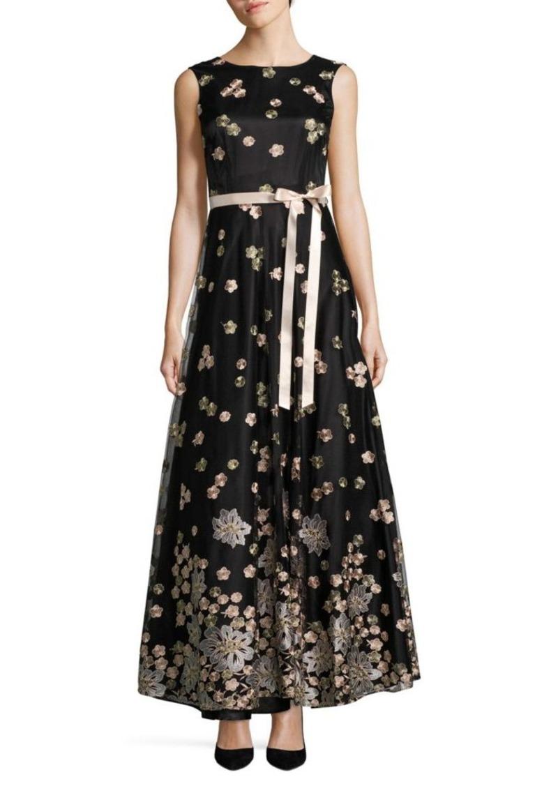 97519dec1d13 SALE! Tahari Tahari Arthur S. Levine Embroidered Floral Gown