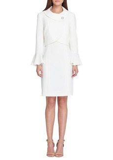 Tahari Arthur S. Levine Envelope Neckline Dress Suit