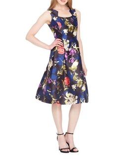 Tahari Arthur S. Levine Floral A-Line Dress