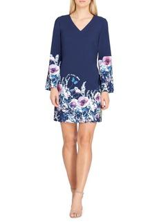 Tahari Arthur S. Levine Floral Bell-Sleeve Scuba Shift Dress