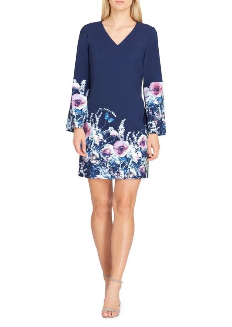 fa0b11dbdcb2 Tahari Tahari Arthur S. Levine Floral Bell-Sleeve Scuba Shift Dress ...