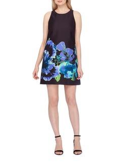 Tahari Arthur S. Levine Floral Bottom Shift Dress