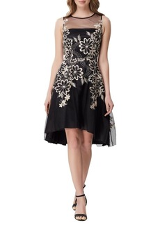 Tahari Arthur S. Levine Floral Embroidered Fit-&-Flare Dress