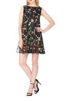 Tahari Arthur S. Levine Floral Embroidered Shift Dress
