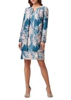 Tahari Arthur S. Levine Floral Jacquard Topper Jacket