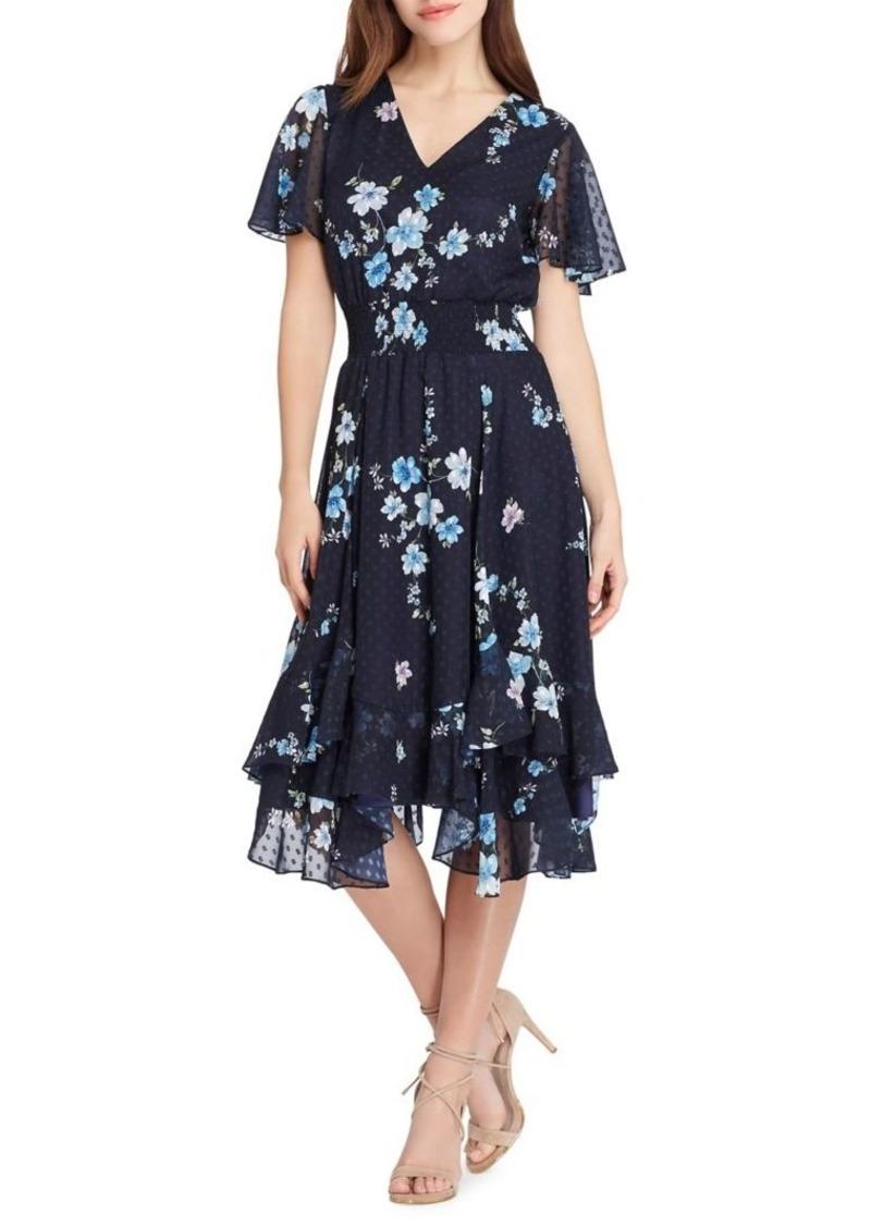915a9aebb655 Tahari Tahari Arthur S. Levine Floral Midi Shift Dress | Dresses