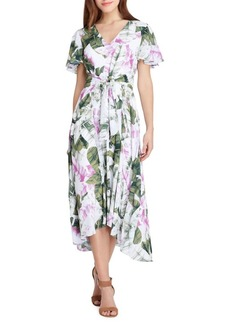 Tahari Arthur S. Levine Floral Midi Shift Dress