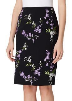 Tahari Arthur S. Levine Floral Pencil Skirt