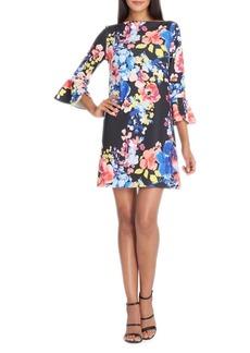 Tahari Arthur S. Levine Floral Print Shift Dress