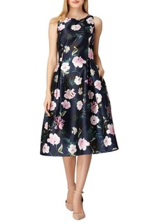 Tahari Arthur S. Levine Floral Printed Fit-and-Flare Dress