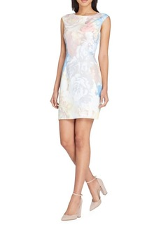 Tahari Arthur S. Levine Floral Scuba Sheath Dress