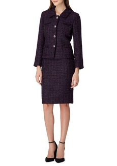 Tahari Arthur S. Levine Four-Pocket Boucle Jacket