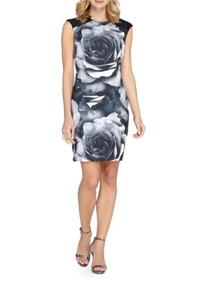 TAHARI ARTHUR S. LEVINE Graphic Printed Dress