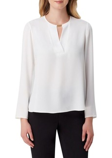 Tahari Arthur S. Levine Hardware Long-Sleeve Blouse