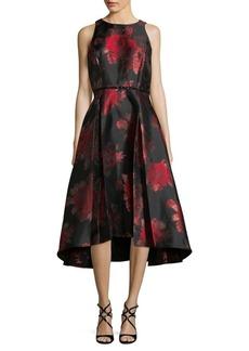 Tahari Arthur S. Levine Hi-lo Floral Midi Dress