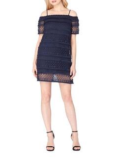 Tahari Arthur S. Levine Lace Cold Shoulder Dress