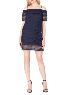 Tahari Lace Cold Shoulder Dress