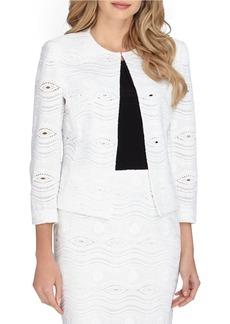 TAHARI ARTHUR S. LEVINE Lace Open Front Jacket