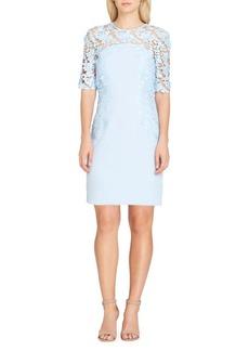 Tahari Arthur S. Levine Lace Overlay Sheath Dress