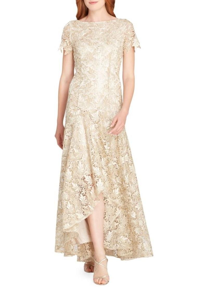 bba6c0418923 On Sale today! Tahari Tahari Arthur S. Levine Lace Scallop Hi-Lo Gown