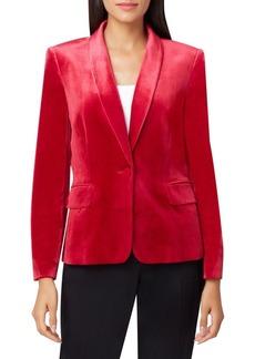 Tahari Arthur S. Levine Long-Sleeve Velvet Jacket