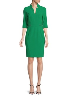 Tahari Arthur S. Levine Notch-Neck Sheath Dress