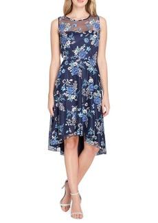 Tahari Arthur S. Levine Novelty Embroidered Fit & Flare Dress