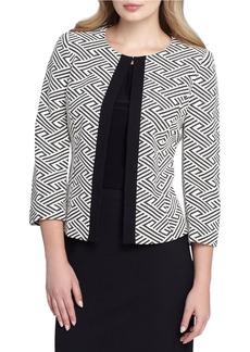 TAHARI ARTHUR S. LEVINE Patterned Open-Front Jacket