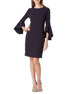 Tahari Arthur S. Levine Pinstripe Crepe Sheath Dress