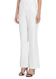 Tahari Arthur S. Levine Pinstripe Flare Pants