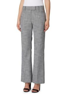 Tahari Arthur S. Levine Plaid Bootcut Trousers