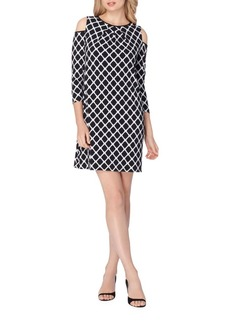 Tahari Printed Cold-Shoulder Dress