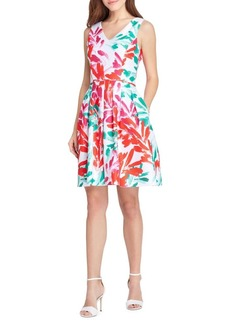 Tahari Arthur S. Levine Printed Fit-&-Flare Dress