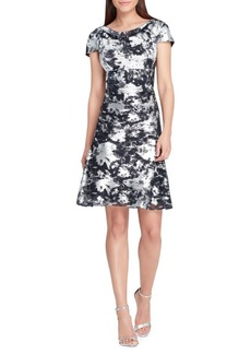 Tahari Arthur S. Levine Printed Shift Dress