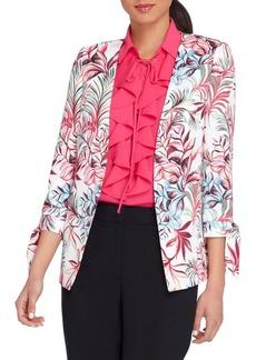 Tahari Arthur S. Levine Printed Tie Sleeve Jacket