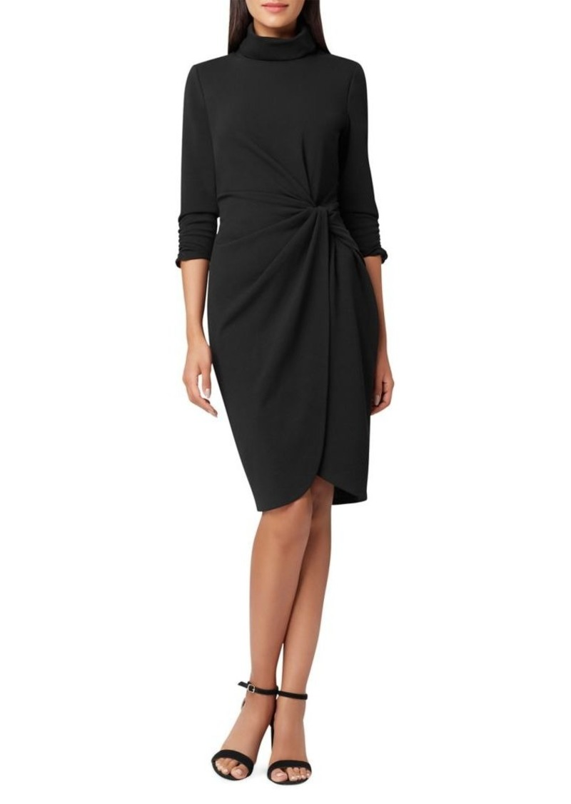 Tahari Arthur S. Levine Quarter-Sleeve Crepe Sheath Dress