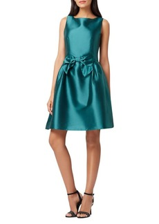 Tahari Arthur S. Levine Satin Bow Fit-&-Flare Dress