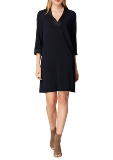 Tahari Arthur S. Levine Satin Crepe Shift Dress