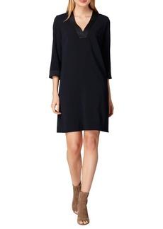 Tahari Arthur S. Levine Satin Crepe Shift Dress