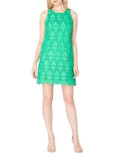 Tahari Arthur S. Levine Scalloped Lace Shift Dress