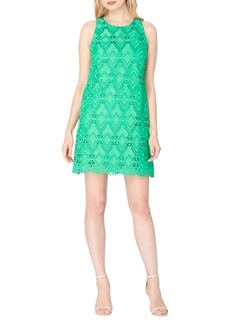 Tahari Arthur S. Levine Scalloped Lace Shift Dress