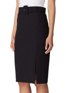 Tahari Arthur S. Levine Self Belted Straight Skirt